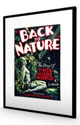 Back to Nature 1933 Black Frame