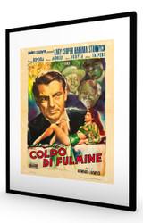 Ball of Fire 1947 Italian Black Frame