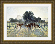 Spring Frost Gold Ornate Frame