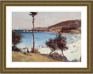 Holiday Sketch at Coogee Gold Frame