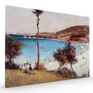 Holiday Sketch at Coogee Stretched Canvas