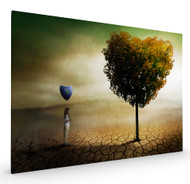 A Heart for the World and Nature Stretched Canvas