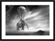 Africa is Moving... by Ben Goossens Framed