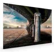 Art and the City by Ben Goossens Surrealism Stretched Canvas