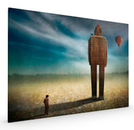 Big Town Exodus Stretched Canvas