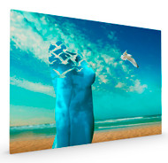 Breath the Fresh Air at the Sea Stretched Canvas