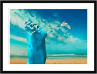 Breath the Fresh Air at the Sea Framed