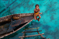 Bajau Boy Print, Canvas or Stretched Canvas