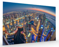 Dubai Colors of Night Stretched Canvas
