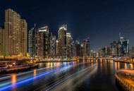 Dubai Marina Print, Canvas or Stretched Canvas