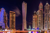 Dubai Marina Night Shot Print, Canvas or Stretched Canvas