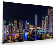 Happy New Year Dubai Stretched Canvas