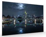 Frankfurt at Full Moon Stretched Canvas