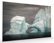 Greenland Bridge Ice Shape Stretched Canvas