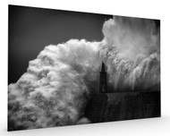 Hugging the Lighthouse Stretched Canvas