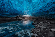 Ice Cave Print, Canvas or Stretched Canvas