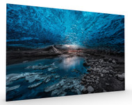Ice Cave Stretched Canvas