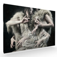 Wolf Daughters Stretched Canvas