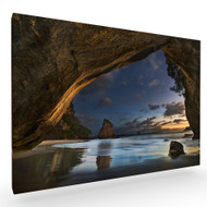 Cathedral Cove Stretched Canvas