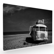 Beached Bus Stretched Canvas