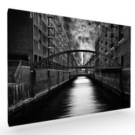 The Other Side of Hamburg Stretched Canvas