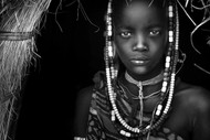 Mursi Girl Print, Canvas or Stretched Canvas Print