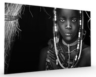 Mursi Girl Stretched Canvas