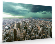 New York Under Storm Stretched Canvas