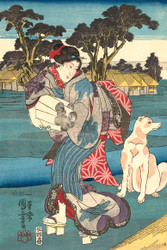 The Toi Tama River in the Province of Settsu by Utagawa Kuniyoshi