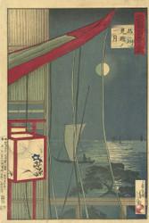 The Moon in Shinagawa by Kobayashi Tetsujiro