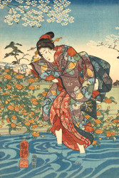 The Ide Tama River in the Province of Yamashiro by Utagawa Kuniyoshi