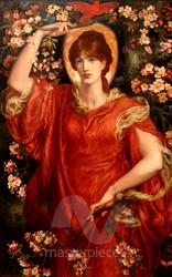 A Vision of Fiammetta by Dante Gabriel Rossetti Premium Giclee Print