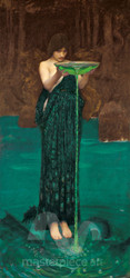 Circe Invidiosa by John William Waterhouse Premium Giclee Print
