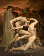 Dante and Virgile by William Adolphe Bouguereau Premium Giclee Print