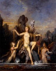 Venus Rising from the Sea by Gustave Moreau Premium Giclee Print