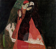 Cardinal and Nun (Caress) by Egon Schiele Premium Giclee Print