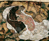 Death and the Maiden by Egon Schiele Premium Giclee Print