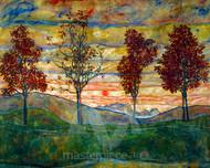 Four Trees by Egon Schiele Premium Giclee Print