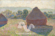 Haystacks, Midday by Claude Monet Premium Giclee Print