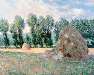 Haystacks by Claude Monet Premium Giclee Print