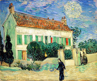 White House at Night by Vincent van Gogh Giclee