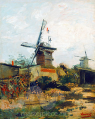Windmills on Montmartre by Vincent van Gogh Premium Giclee