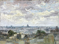 View of Paris by Vincent van Gogh Premium Giclee