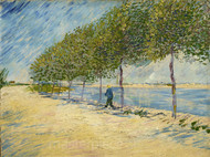 Along the Seine by Vincent van Gogh Premium Giclee