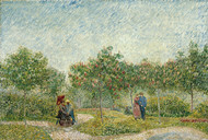 Garden in Montmarte with Lovers by Vincent van Gogh