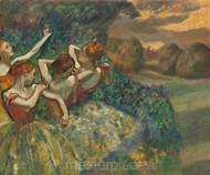 Four Dancers by Edgar Degas Premium Giclee Print