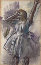 Dancer Stretching by Edgar Degas Premium Giclee Print