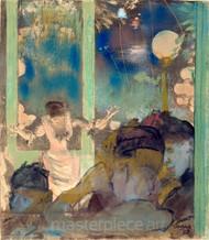 Mademoiselle Bécat at the Café des Ambassadeurs by Edgar Degas