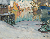 From Svolvaer Harbour by Anna Boberg Premium Giclee
