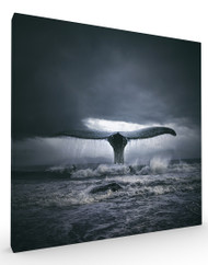 Stretched Canvas Surf n Whale by Tomasz Zaczeniuk